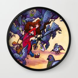 I Hate Pigeons Wall Clock