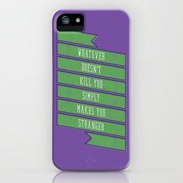 Stranger iPhone Case