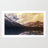 Lake Sherburne in Many Glacier Art Print
