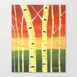 Birch Woods Canvas Print