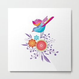 Happy Spring Bird Metal Print