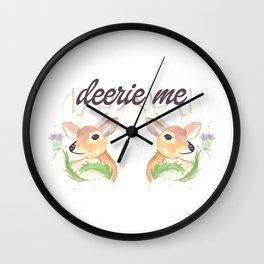 Deerie Me Wall Clock
