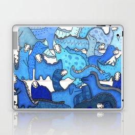 Blue Dinosaur Gradient Laptop & iPad Skin