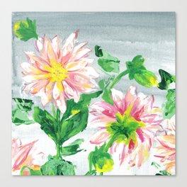 Dahlias for a cloudy day i Canvas Print