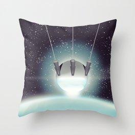 Sputnik Space Race Poster Throw Pillow