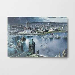 Earth Falls Away Metal Print