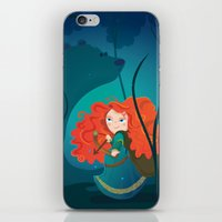 be brave iPhone & iPod Skins featuring Brave by Maria Jose Da Luz
