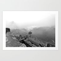 Machu Picchu Through the Mist Art Print