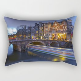 Papiermolensluis, Amsterdam, Netherlands ,Bridge Rectangular Pillow