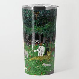 1945 American American Masterpiece 'Holy Mountain III' by Horace Pippin Travel Mug