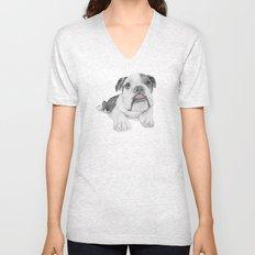 A Bulldog Puppy Unisex V-Neck