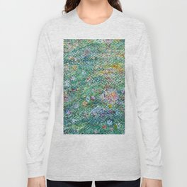 colorful flower filed Long Sleeve T-shirt