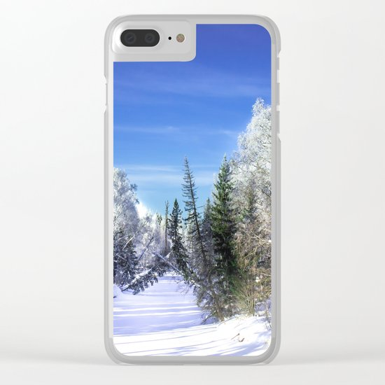 Winter river Clear iPhone Case
