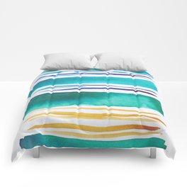 14   |181026 Lines & Color Block | Watercolor Abstract | Modern Watercolor Art Comforters