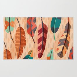 Native American, Colorful Feathers Rug