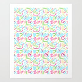 26 Graffiti Scribbles Art Print