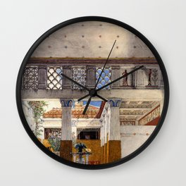Interior Of Caius Martius House 1907 by Sir Lawrence Alma Tadema | Reproduction Wall Clock