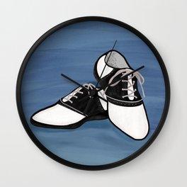 1950s Saddle Shoes Fashion Wall Clock