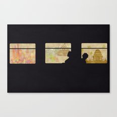 Travelling without moving Canvas Print