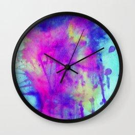 electric blue tie dye Wall Clock