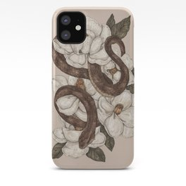 Snake and Magnolias iPhone Case