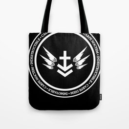 Immovable & Indestructible (White Design) Tote Bag