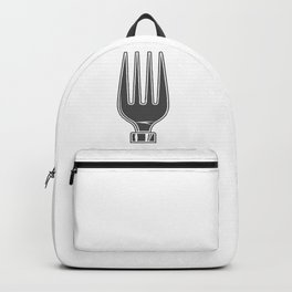 Dining Fork style Fashion Modern Design Print! Life set. Lover to eat. Hungry. Glutton. Food Lover. Backpack