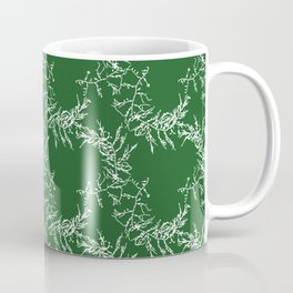 Green Seaweed Pattern Coffee Mug