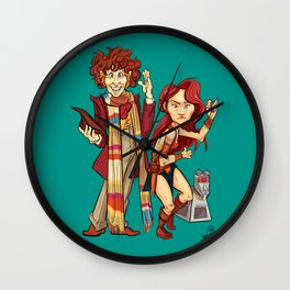The Doctor, The Warrior, and K-9 Wall Clock