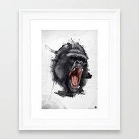 gorilla Framed Art Prints featuring Gorilla by Arnaud Gomet