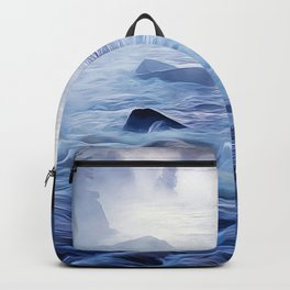 Fishing on the Sea - Art Backpack
