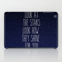 coldplay iPad Cases featuring Look How They Shine For You by Adel