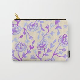 Watercolor Peonies - Peach Violet Carry-All Pouch