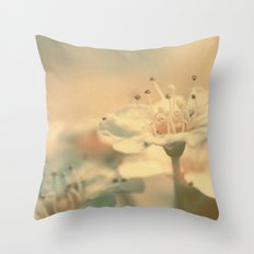 Spiraea  Bush Flower Throw Pillow