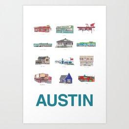 Austin Texas Kunstdrucke