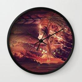 Shadow Of A Thousand Lives - Digital painting - Manafold Art Wall Clock