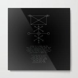 Exorcism Stave Metal Print