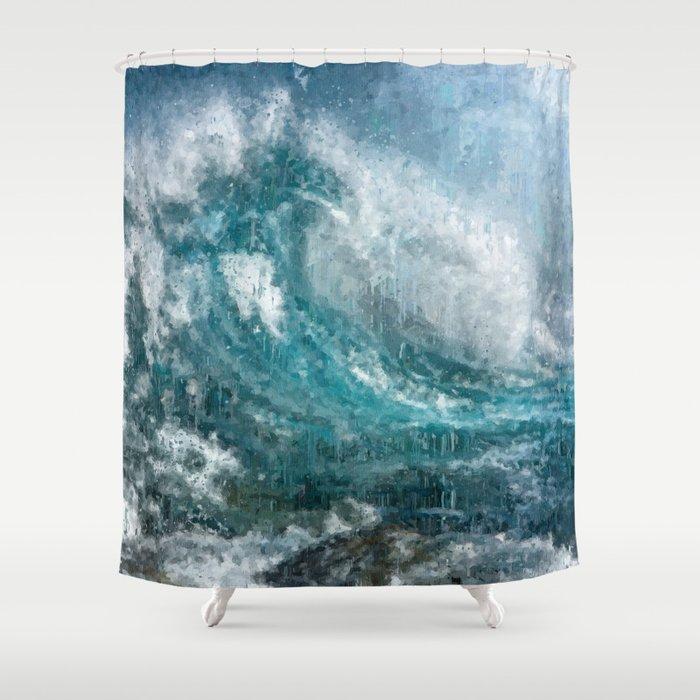Epic Surf Impressionism Wall Art Print Ocean Modern Beach Decor