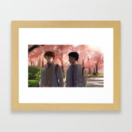 Distances Framed Art Print