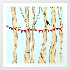 Festive Forest Art Print