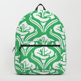 Calla Lily Pattern Green Backpack