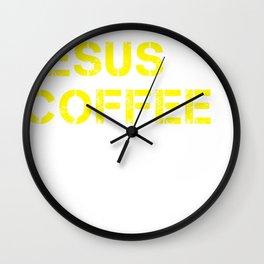 Jesus, Coffee & Tacos Wall Clock