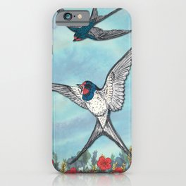 Summer Swallows iPhone Case