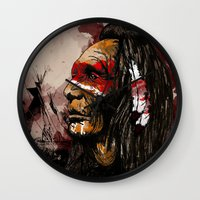 native Wall Clocks featuring Native by DGundlachDesigns