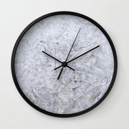 White Frozen Ice Winter Wall Clock