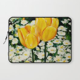 Tulips and Daisies Laptop Sleeve