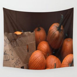 Pumpkins In a Box! Wall Tapestry