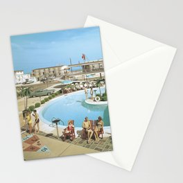1960's Caribbean Motel in Wildwood, New Jersey Stationery Cards