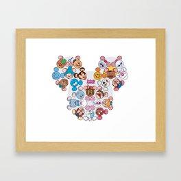 famous mouses Framed Art Print
