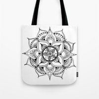 henna Tote Bags featuring Henna Mandala by Ava Elise